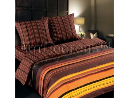 Двуспальный комплект постельного белья из поплина Артпостель Шоколад