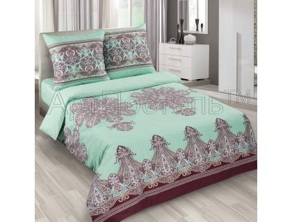 Двуспальный комплект постельного белья из поплина Артпостель Турецкие мотивы бирюзовые