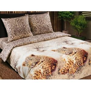Постельное белье Артпостель Леопарды (2-спальное, поплин)