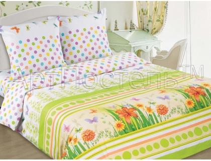 Двуспальный комплект постельного белья из поплина Артпостель Полянка