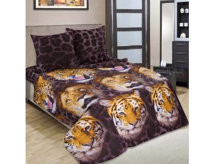 Двуспальный комплект постельного белья из поплина Артпостель Царство зверей