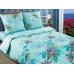Двуспальный комплект постельного белья из поплина Артпостель Стефания бирюзовая
