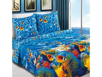 Двуспальный комплект постельного белья из поплина Артпостель Океан