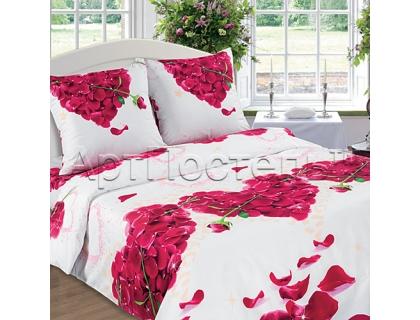 Двуспальный комплект постельного белья из поплина Артпостель Романтика