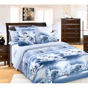 Постельное белье Текс-Дизайн Лебединое озеро (2 спальное, бязь)