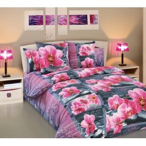 Постельное белье Текс-Дизайн Дикая орхидея (2 спальное, бязь)