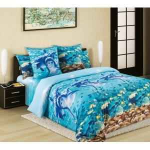 Постельное белье Текс-Дизайн Дельфины (2 спальное, бязь)