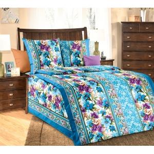 Постельное белье Текс-Дизайн Лазурит (1,5 спальное, бязь, голубой)