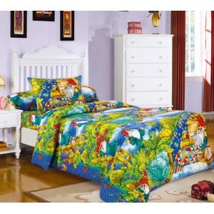 Детское постельное белье Текс Дизайн Гномики  (1,5-спальное, бязь)