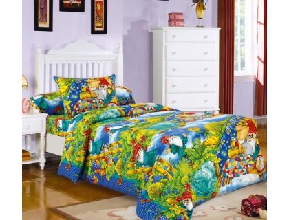 Детский комплект постельного белья из бязи Текс Дизайн Гномики  (1,5-спальный)
