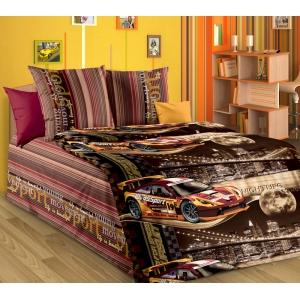 Детское постельное белье Текс Дизайн Неон коричневый (1,5-спальное, бязь)