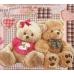 Детский комплект постельного белья из бязи Текс Дизайн Плюшевые мишки бежевый (1,5-спальный)
