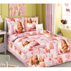 Детское постельное белье Текс Дизайн Балерина  (1,5-спальное, бязь)