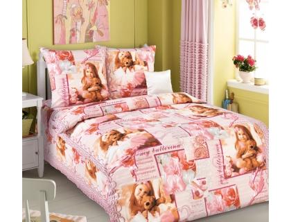 Детский комплект постельного белья из бязи Текс Дизайн Балерина  (1,5-спальный)