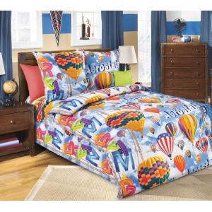 Детское постельное белье Текс Дизайн Аэростат  (1,5-спальное, бязь)