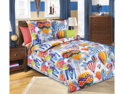 Детский комплект постельного белья из бязи Текс Дизайн Аэростат  (1,5-спальный)