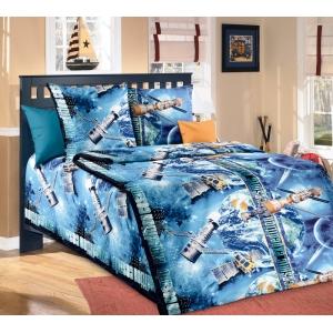 Детское постельное белье Текс Дизайн Космос  (1,5-спальное, бязь)