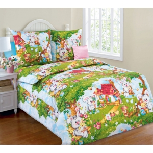 Детское постельное белье Текс Дизайн Лесная опушка  (1,5-спальное, бязь)