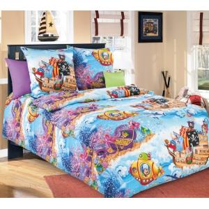 Детское постельное белье Текс Дизайн Пираты  (1,5-спальное, бязь)