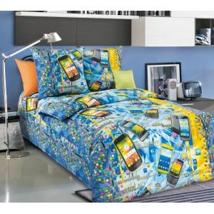 Детское постельное белье Текс Дизайн Смартфон  (1,5-спальное, бязь)