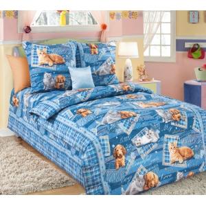 Детское постельное белье Текс Дизайн Четыре лапы  (1,5-спальное, бязь)