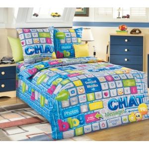 Детское постельное белье Текс Дизайн Чат  (1,5-спальное, бязь)