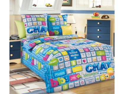 Детский комплект постельного белья из бязи Текс Дизайн Чат  (1,5-спальный)