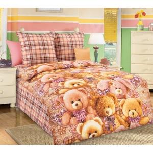 Детское постельное белье Текс Дизайн Мишкины друзья  (1,5-спальное, бязь)