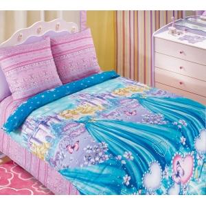 Детское постельное белье Текс Дизайн Золушка  (1,5-спальное, бязь)