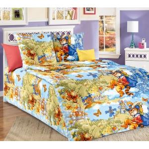 Детское постельное белье Текс Дизайн Кот в сапогах  (1,5-спальное, бязь)