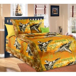 Детское постельное белье Текс Дизайн Стражи неба оранжевый (1,5-спальное, бязь)