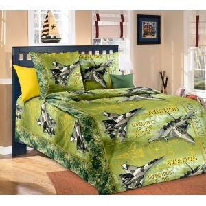 Детское постельное белье Текс Дизайн Стражи неба зеленый (1,5-спальное, бязь)