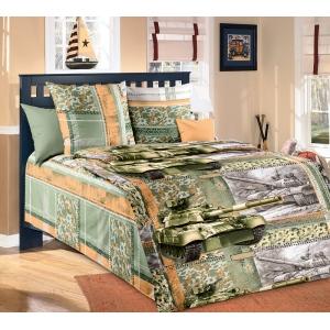 Детское постельное белье Текс Дизайн Танк (1,5-спальное, бязь)