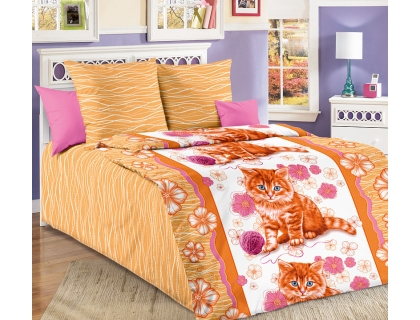 Детский комплект постельного белья из бязи Текс Дизайн Рыжик (1,5-спальный)