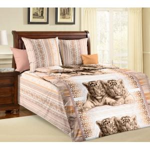 Детское постельное белье Текс Дизайн Тигрята (1,5-спальное, бязь)