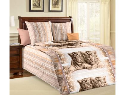 Детский комплект постельного белья из бязи Текс Дизайн Тигрята (1,5-спальный)