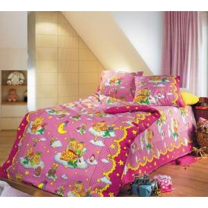 Детское постельное белье Текс Дизайн Сладкий сон розовый (1,5-спальное, бязь)