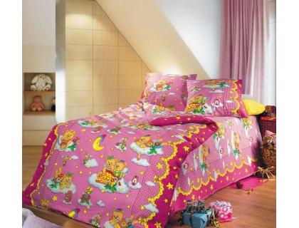 Детский комплект постельного белья из бязи Текс Дизайн Сладкий сон розовый (1,5-спальный)