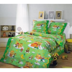 Детское постельное белье Текс Дизайн Сладкий сон зеленый (1,5-спальное, бязь)