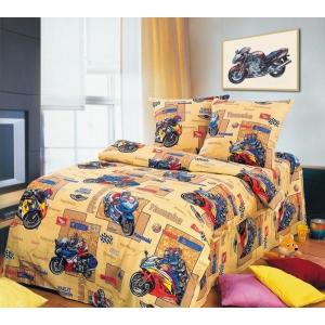 Детское постельное белье Текс Дизайн Мотоспорт  (1,5-спальное, бязь)