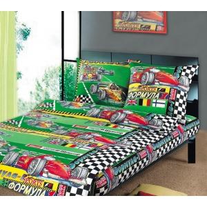 Детское постельное белье Текс Дизайн Формула 1 (1,5-спальное, бязь)
