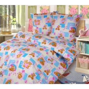 Детское постельное белье Текс Дизайн Мишутки  (1,5-спальное, бязь)