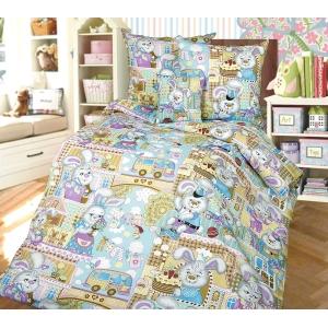 Детское постельное белье Текс Дизайн Зайкин город  (1,5-спальное, бязь)