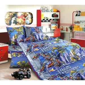 Детское постельное белье Текс Дизайн Трансформеры (1,5-спальное, бязь)