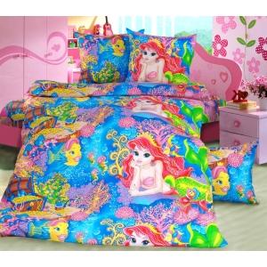 Детское постельное белье Текс Дизайн Морская сказка (1,5-спальное, бязь)