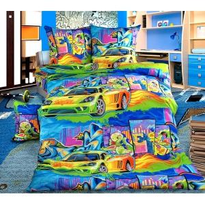 Детское постельное белье Текс Дизайн Граффити (1,5-спальное, бязь)