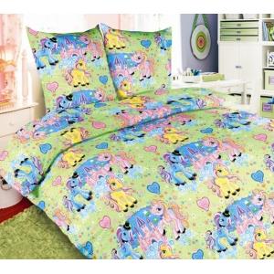 Детское постельное белье Текс Дизайн Чудо-пони  (1,5-спальное, бязь)