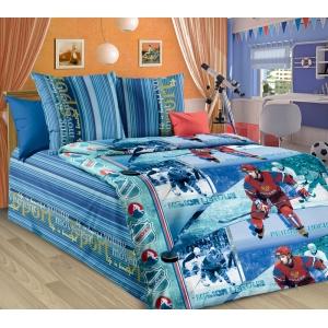 Детское постельное белье Текс Дизайн Хоккей  (1,5-спальное, бязь)