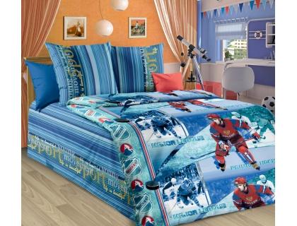 Детский комплект постельного белья из бязи Текс Дизайн Хоккей  (1,5-спальный)