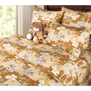 Детское постельное белье Текс Дизайн Тузик  (1,5-спальное, бязь)